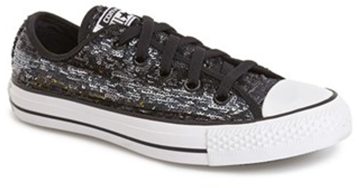 ad58183714f5 Lyst - Converse Chuck Taylor All Star  Sequin Flag  Low Top Sneaker in Black