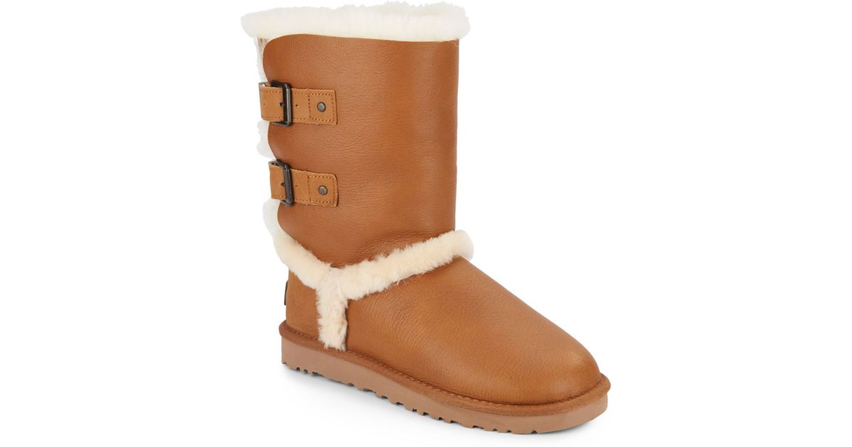 e6757f4f60c9 Ugg Buckle Leather Tall Boots
