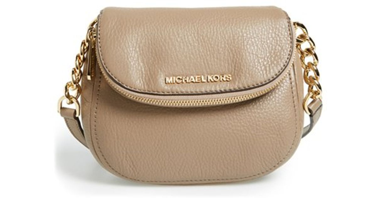 a727bd95d88f MICHAEL Michael Kors 'bedford' Leather Crossbody in Natural - Lyst