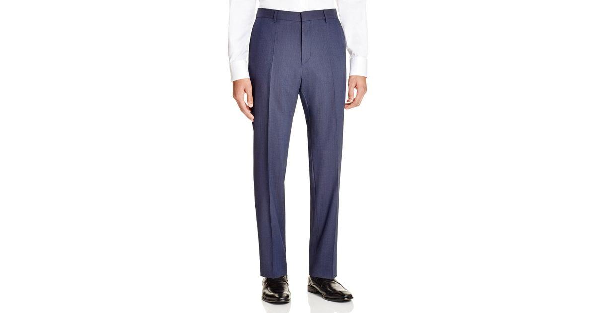 hugo boss blue hugo pindot hamen slim fit trousers product 1 104688829. Black Bedroom Furniture Sets. Home Design Ideas