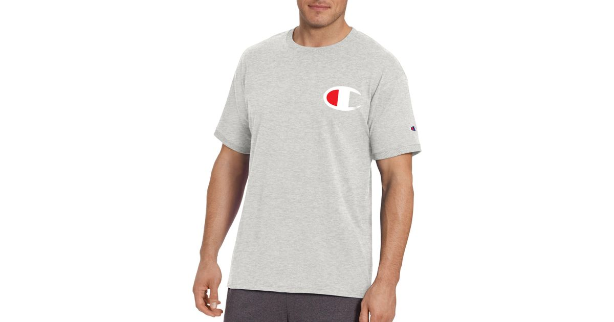 5616cb5c7 Champion Gt20h-c Classic Jersey Big 'c' Logo Ringer T-shirt in Gray for Men  - Save 37% - Lyst