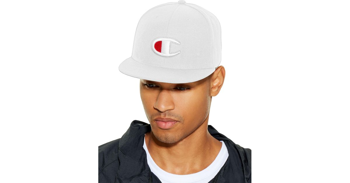 e74035c0040 Lyst - Champion Lifetm Snapback Baseball Hat With Big
