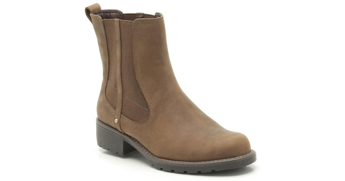 86510a0a18fc88 Lyst - Clarks Orinoco Club Womens Wide Chelsea Boots in Brown