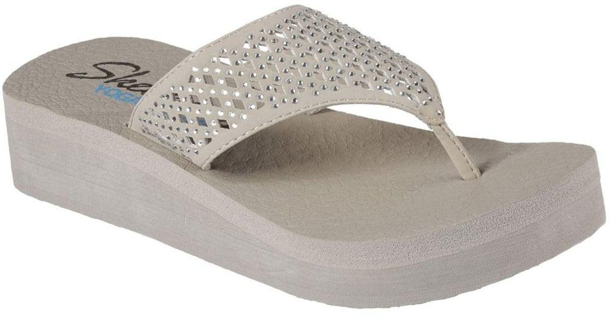 a74425ae176 Lyst - Skechers Cali Vinyasa Flow Womens Toe-post Sandals in Gray