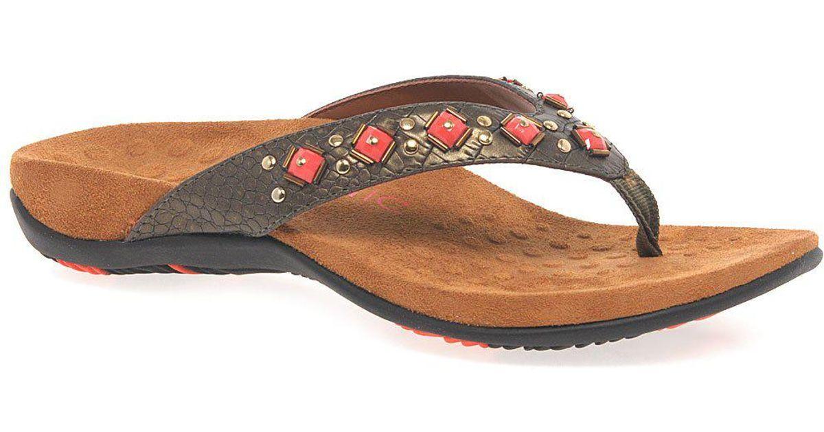 81e0b4c5aae5 Lyst - Vionic Floriana Womens Toe Post Sandals in Brown