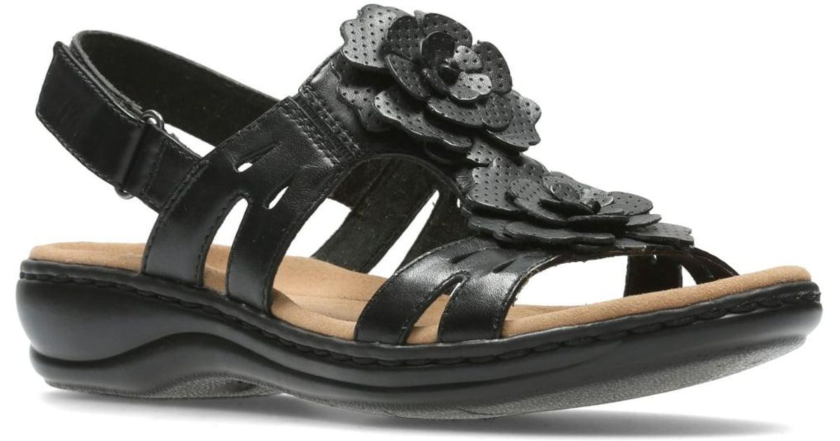 dd7bb715bbdc Lyst - Clarks Leisa Claytin Womens Wide Sandals in Black