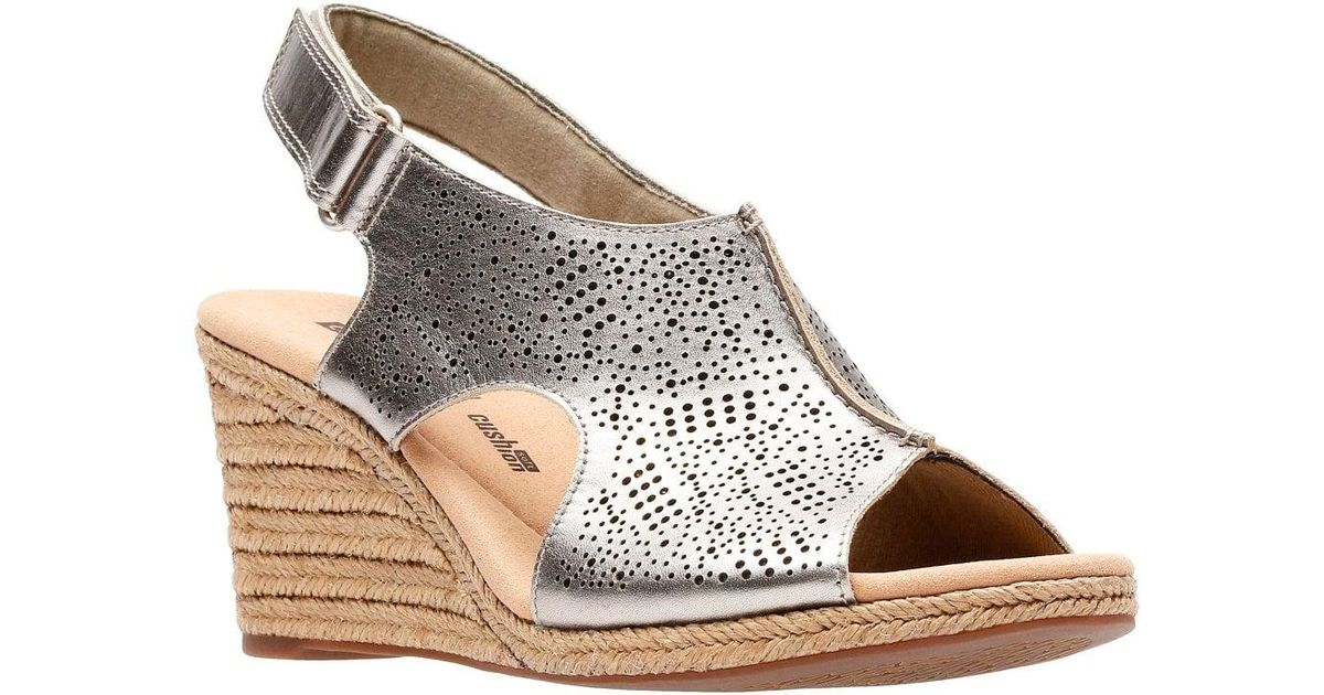 a5f5118b2865 Lyst - Clarks Lafley Rosen Womens Wedge Sandals