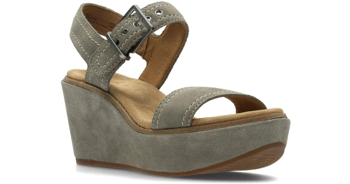 cb4dd6f3506c Lyst - Clarks Aisley Orchid Womens Wide Wedge Heel Sandals