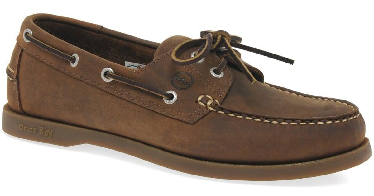 a74b39a04999c Orca Bay Creek Casual Leather Boat Shoes in Brown for Men - Lyst
