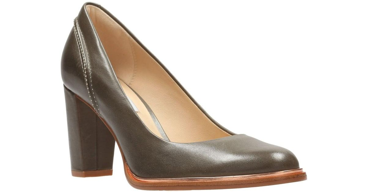 0d52eac1a08 Lyst - Clarks Ellis Edith Womens Court Shoes in Gray