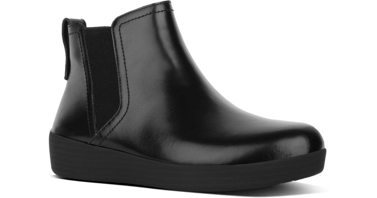 c3822aa54a3 Fitflop Super Chelsea Womens Boots in Black - Lyst