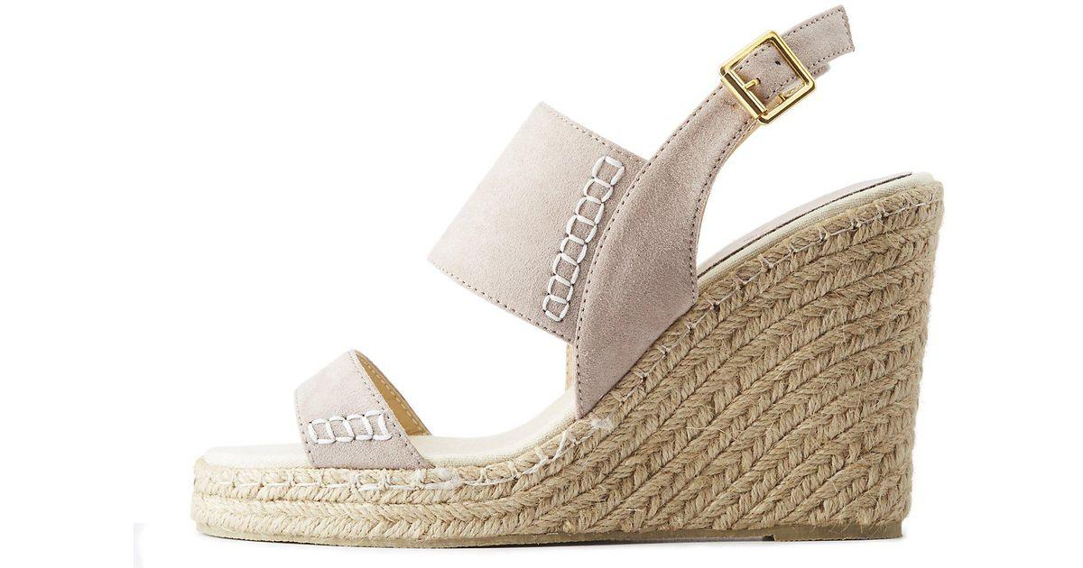 d131802c3f1 Charlotte Russe - Multicolor Qupid Espadrille Wedge Sandals - Lyst