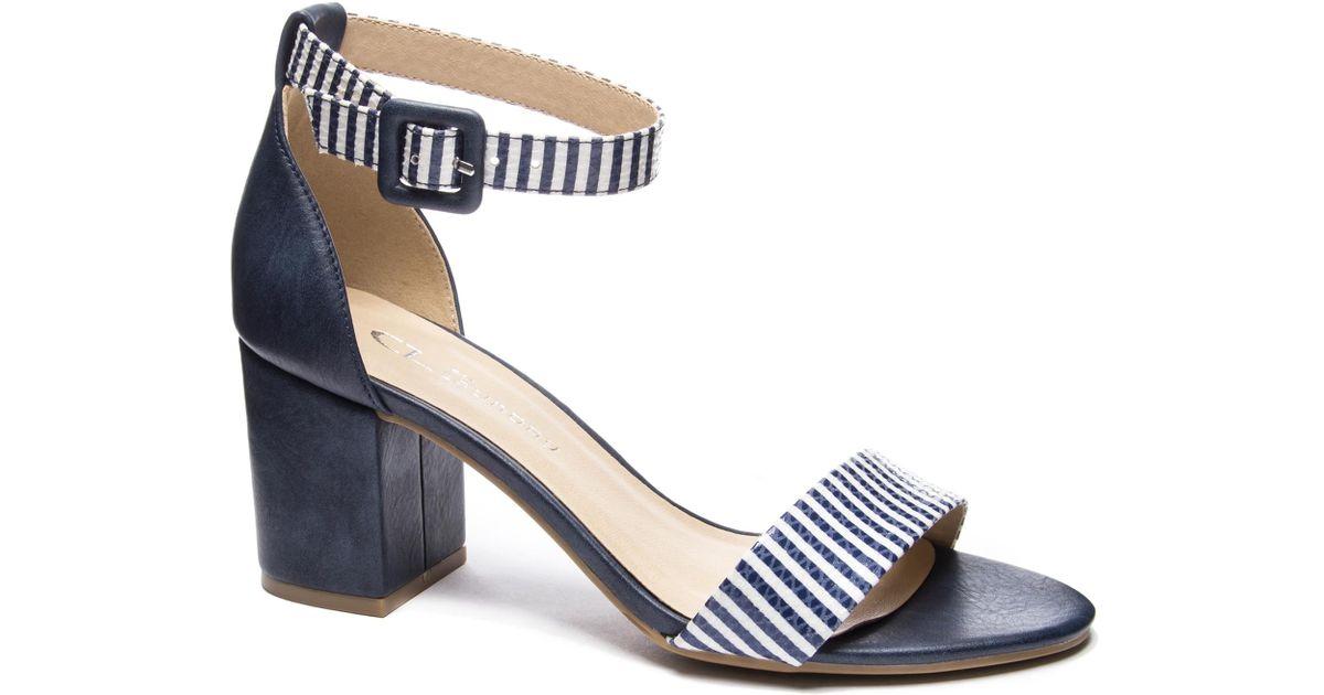82ffdf60b8 Chinese Laundry Jody Block Heel Sandal in Blue - Lyst
