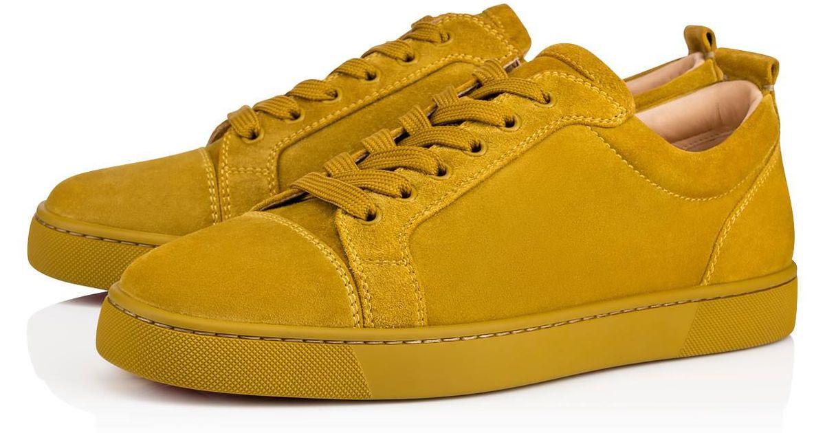 b1d956b2a2d8 Lyst - Christian Louboutin Louis Junior Men s Flat in Yellow for Men
