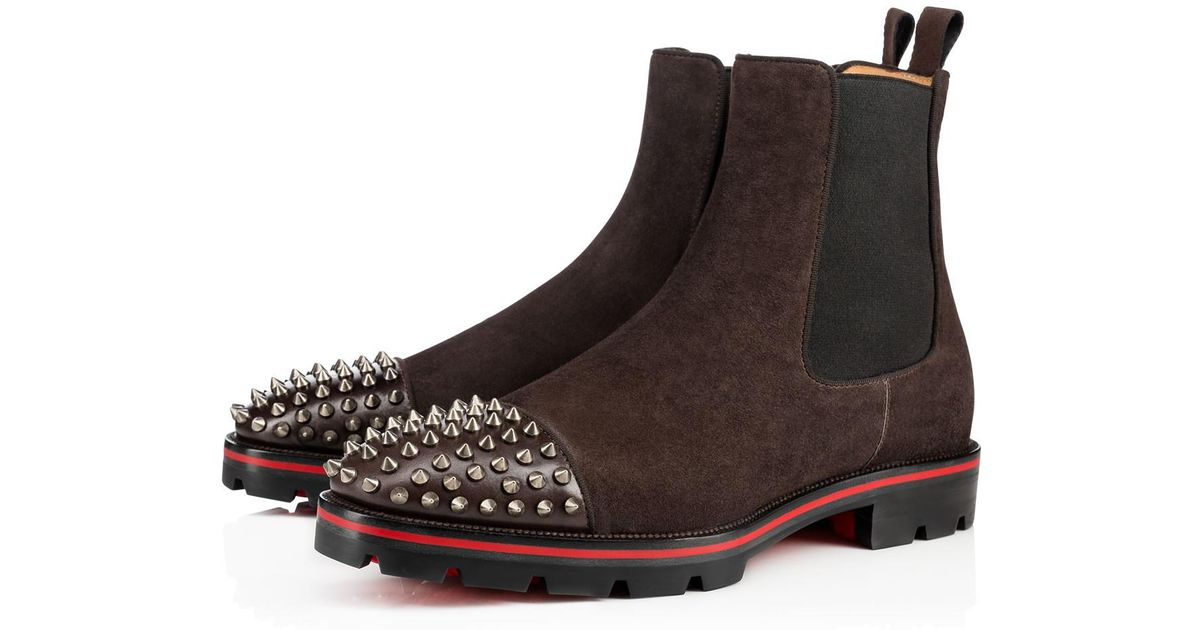 Lyst - Christian Louboutin Melon Spikes Flat in Brown for Men c7f330ae2