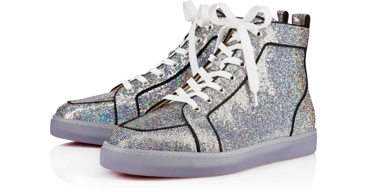 46b68887fac Christian Louboutin Rantus Orlato Glitter Disco Ball in Gray for Men - Lyst