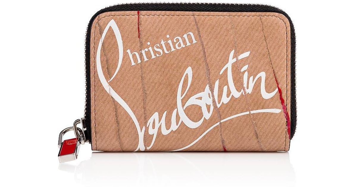 be5c7cacb72 Christian Louboutin - Natural Panettone Coin Purse Kraft And Red Calfskin -  Lyst