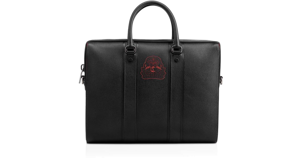 fac965b40fcc Lyst - Christian Louboutin Streetwall Briefcase Black Calfskin in Black for  Men