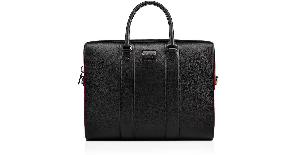 477b558e2d2f Lyst - Christian Louboutin Streetwall Leather Briefcase in Black for Men -  Save 6%