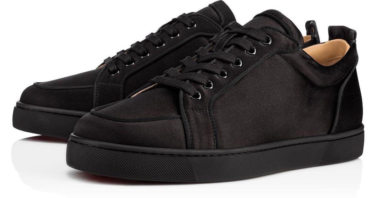 e835bf58de6 netherlands christian louboutin mens low sneakers 8230b df985  canada lyst  christian louboutin rantulow orlato mens flat in black for men f8553 4fc4a