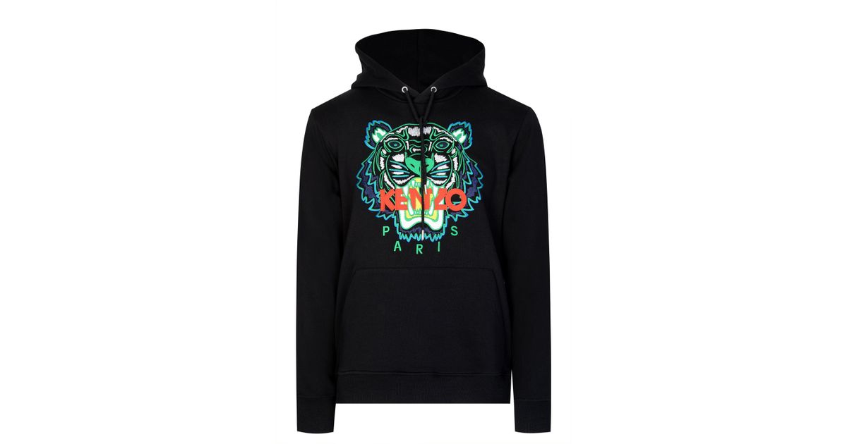 faf030ca Kenzo Paris Classic Tiger Hooded Sweatshirt in Black for Men - Lyst