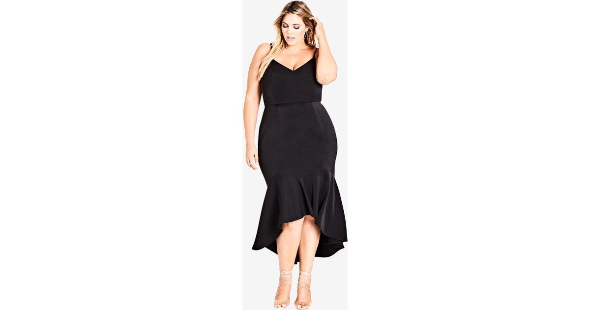 Lyst - City Chic Black Tango Dress in Black