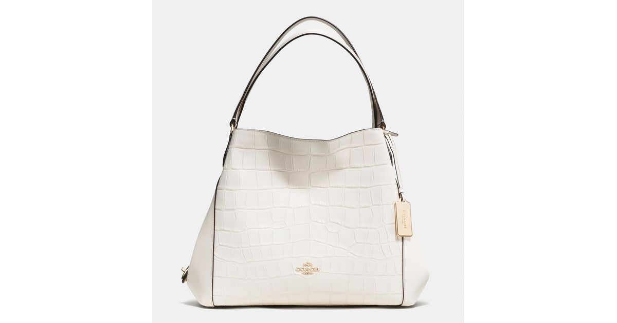 1af6c0bfd067f ... discount code for coach edie shoulder bag 31 in croc embossed leather  lyst de08a 308d8