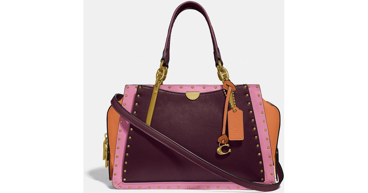 d3af2a5f309d Lyst - COACH Dreamer With Rivets in Purple