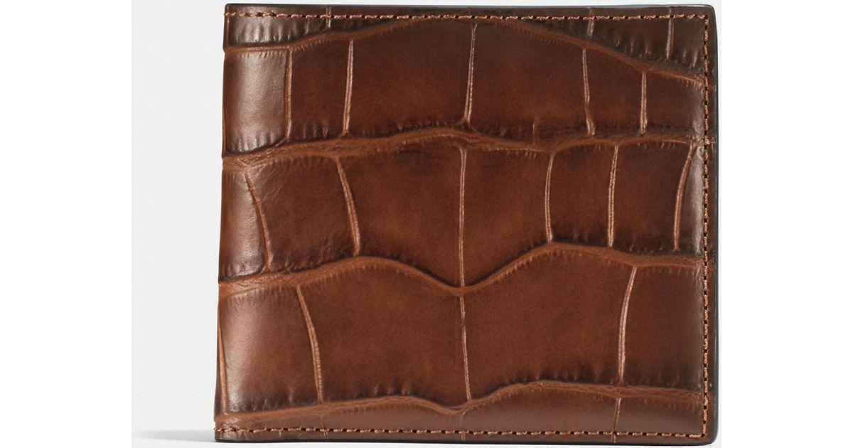 1d431eab5e45 Lyst - COACH Double Billfold Wallet in Brown for Men