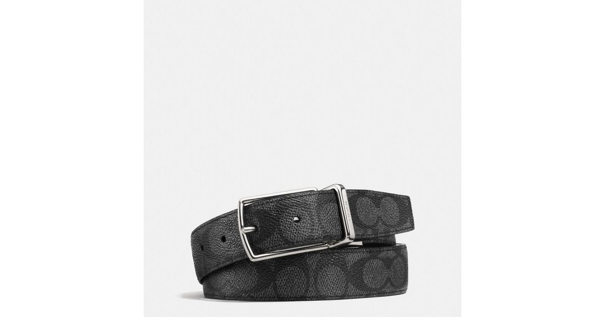 fd89641a78a0 Lyst - COACH Modern Harness Cut-to-size Reversible Signature Belt in Black  for Men