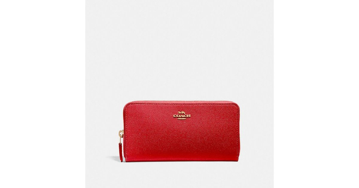 ac32f2f85d COACH Accordion Zip Wallet in Red - Lyst