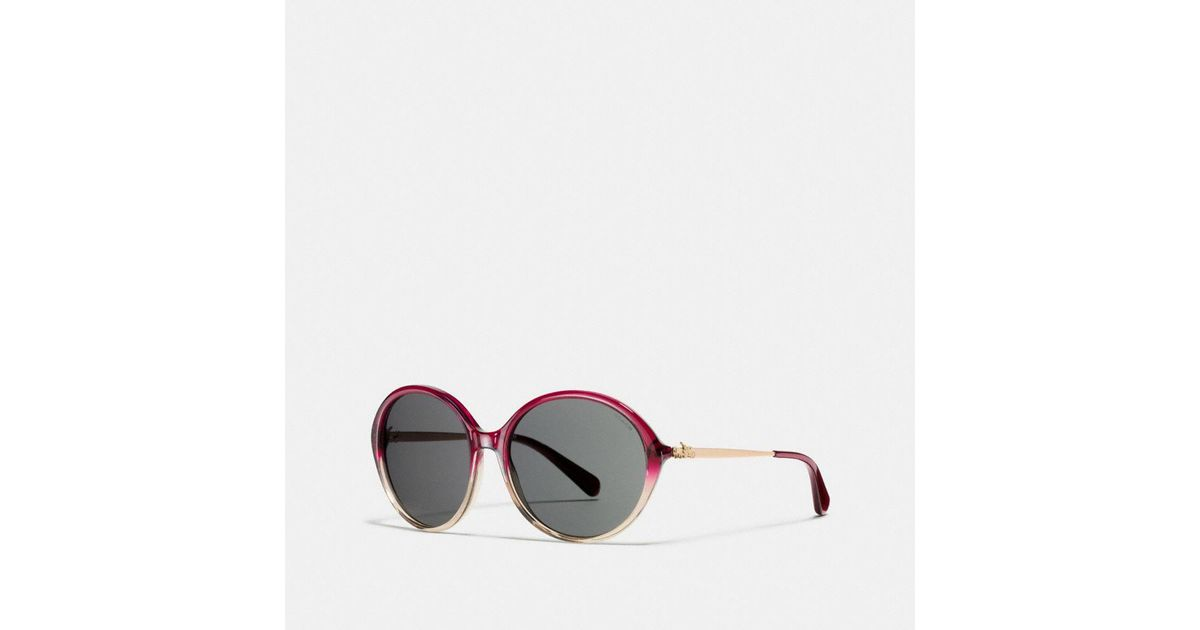 754eeb27d585 ... coupon code for lyst coach horse and carriage round sunglasses in red  e6db2 27908