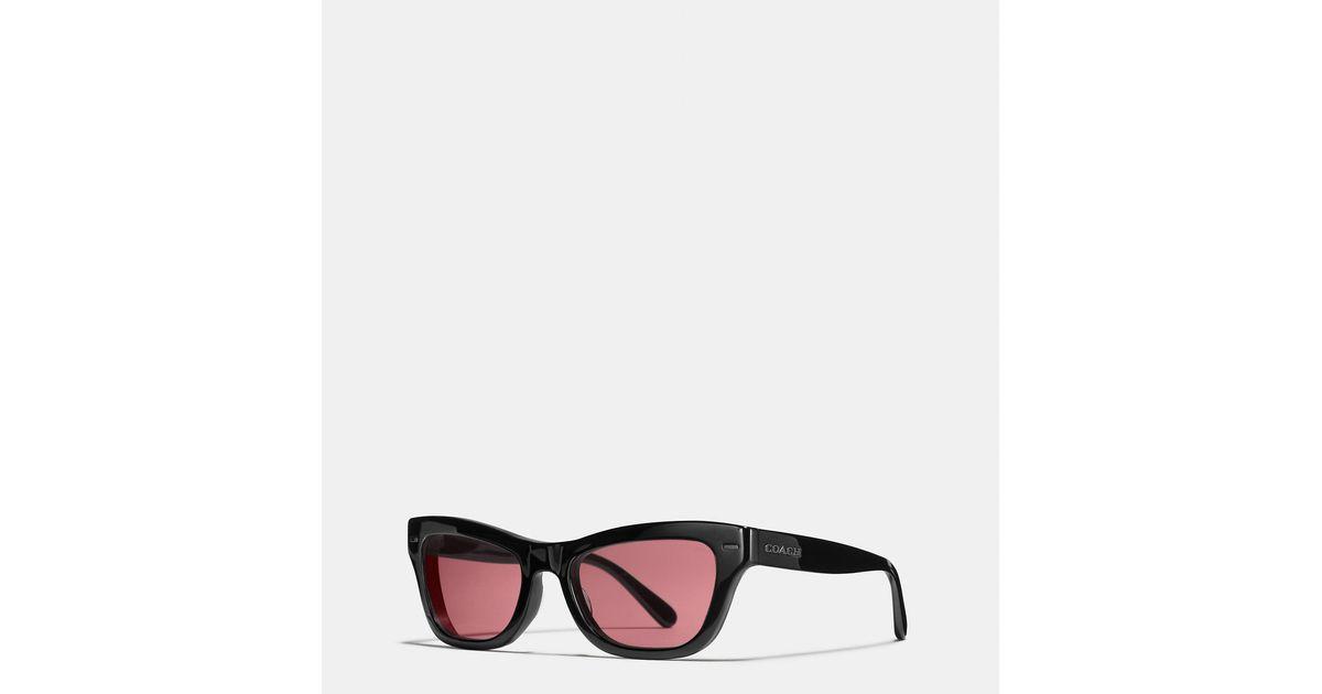 99c420bd1152 ... low price coach badlands sunglasses in black lyst 52f7a 2540a