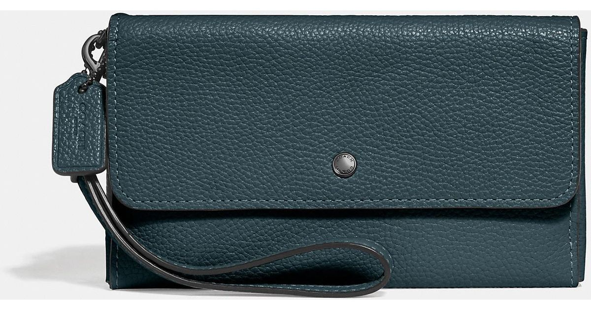 c0a0b56763 Lyst - COACH Triple Small Wallet