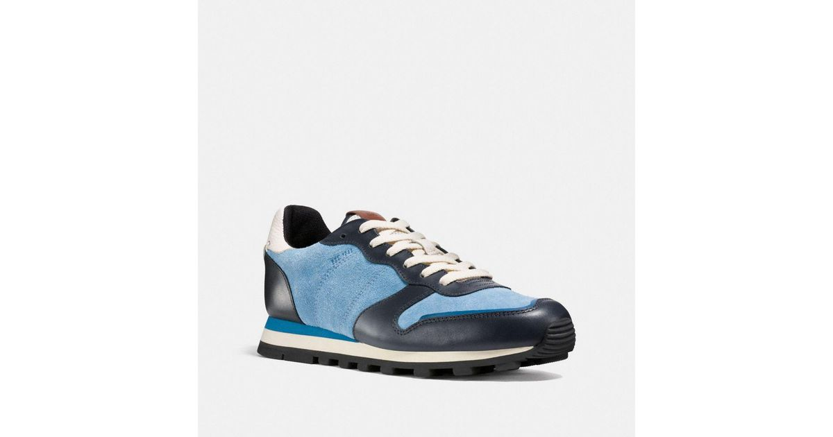 Lyst For Coach Men Suede And Blue Leather In Hairy Save C118 rr6q4aw