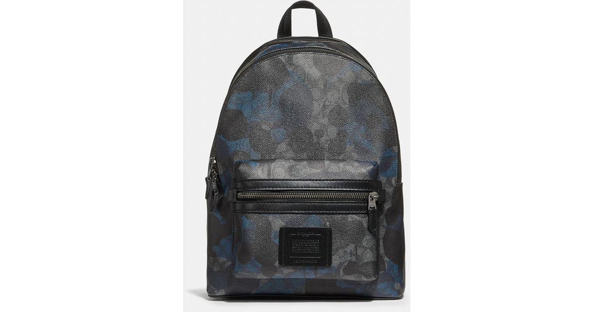 714f9231ac50 Lyst - COACH Academy Backpack In Signature Wild Beast Print in Black for Men