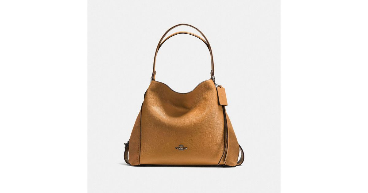 COACH Edie Shoulder Bag 31 in Brown - Lyst 08e04b6292a5b