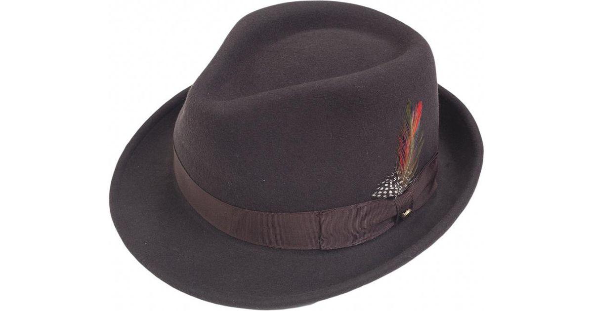 fb20d915 Lyst - Stetson Elkader Trilby Hat in Brown for Men