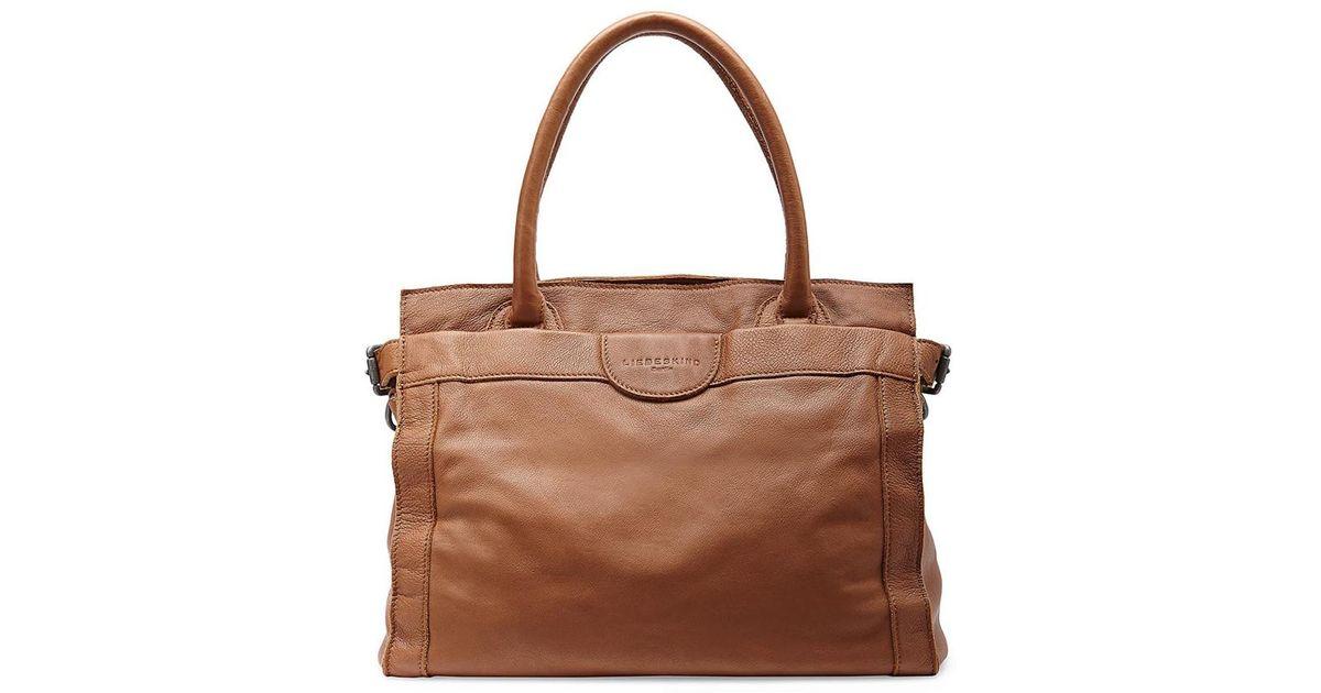 Liebeskind Glory Vintage Leather Tote Bag in Brown - Lyst ec425063caf72