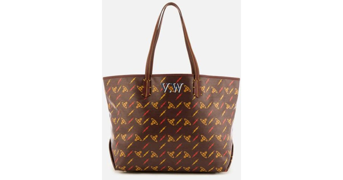 a58dd5a754 Vivienne Westwood Women's Colette Small Shopper Bag in Brown - Lyst