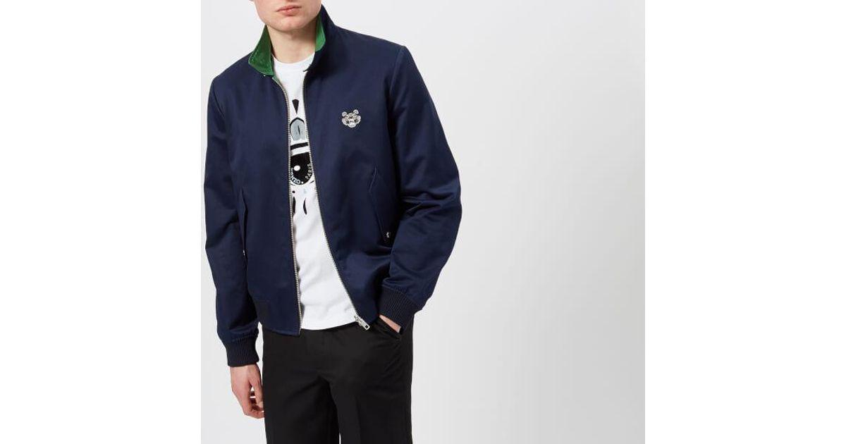 709525f763 Lyst - KENZO Men's Reversible Tiger Crest Jacket in Blue for Men