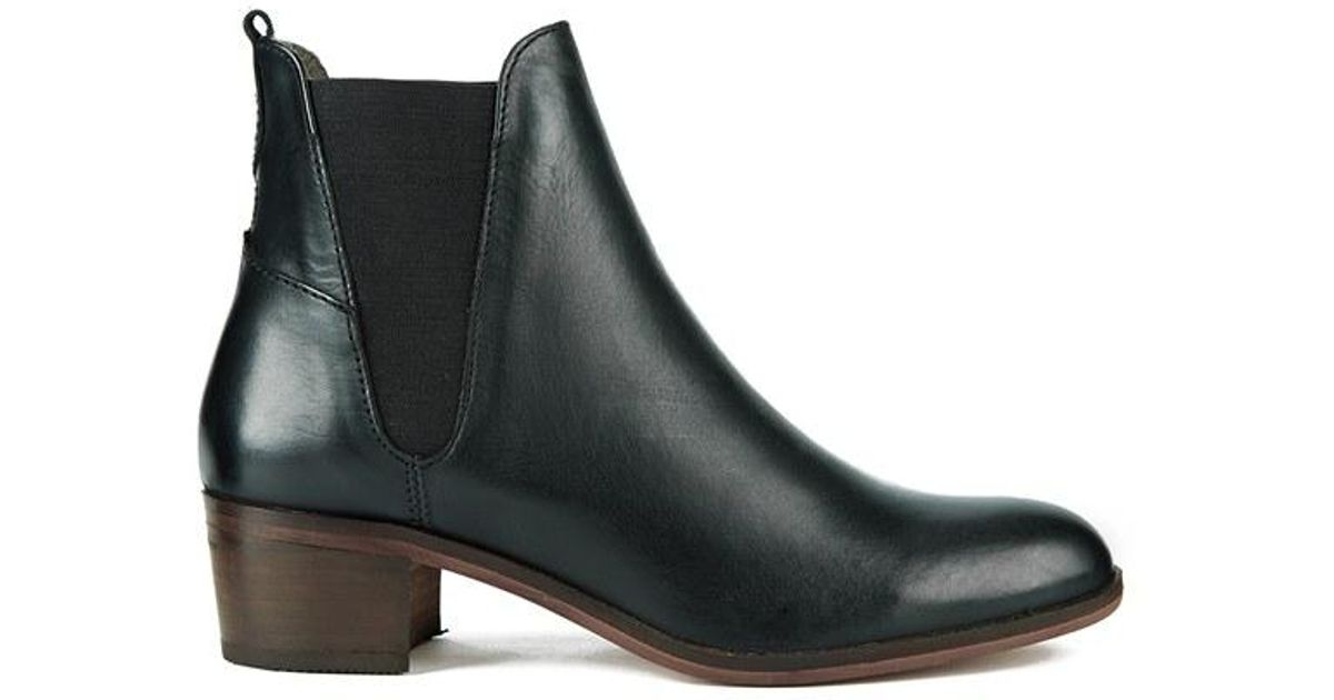 h by hudson women 39 s compound leather chelsea boots in. Black Bedroom Furniture Sets. Home Design Ideas