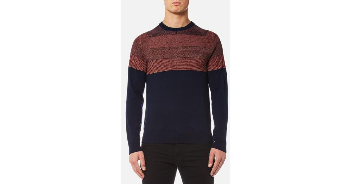 ec2caeb3e88ba3 PS by Paul Smith Men's Contrast Shoulder Knitted Jumper in Blue for Men -  Lyst