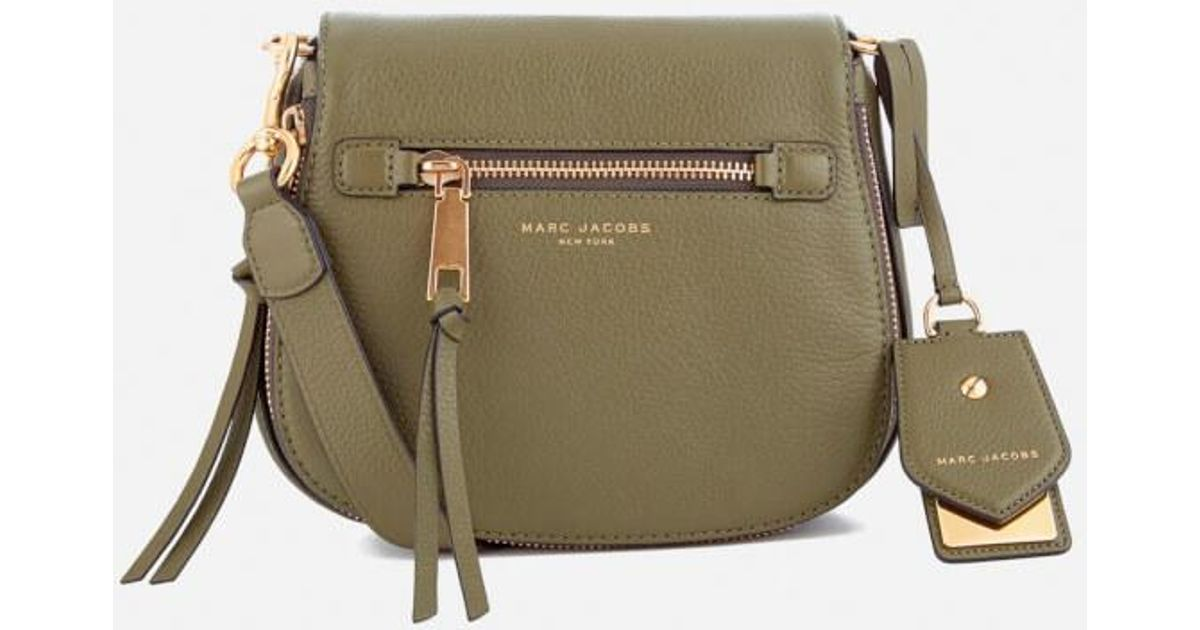 Marc Jacobs Women s Recruit Small Nomad Saddle Bag in Green - Lyst 517646679