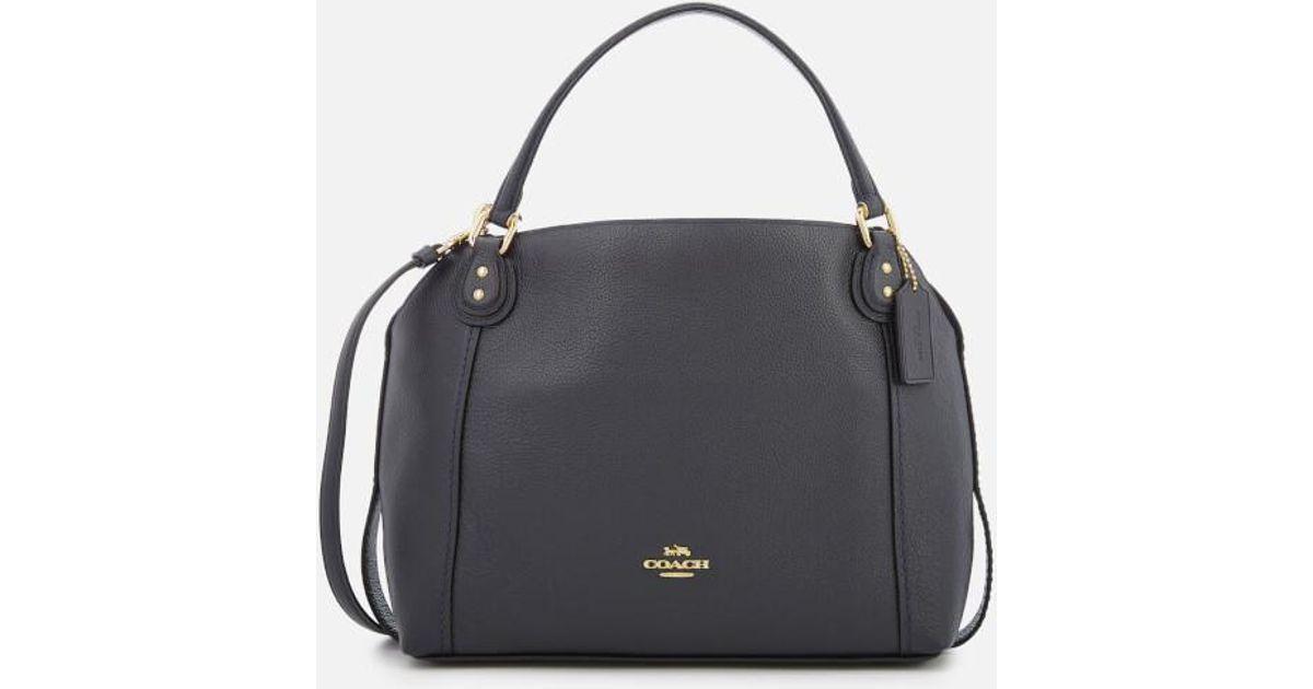 9e8eec082117 COACH Women s Leather Edie 28 Shoulder Bag in Blue - Lyst