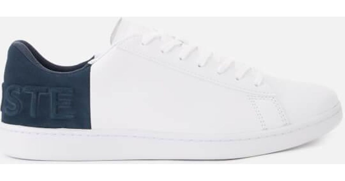 61392738841116 Lyst - Lacoste Men s Carnaby Evo 318 6 Leather suede Trainers in White for  Men