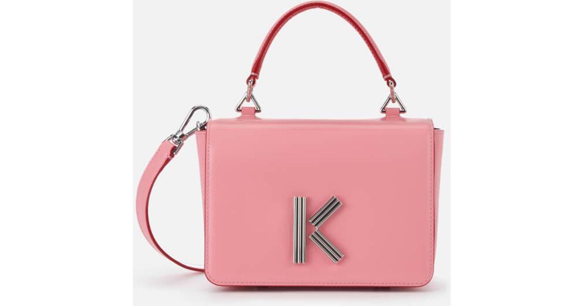 b9e15e0a04 Lyst - KENZO Women's K Medium Cross Body Bag in Pink