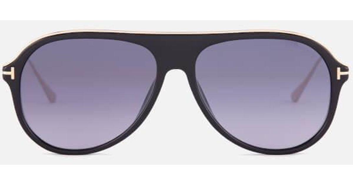 011d4795dbf Lyst - Tom Ford Men s Nicholai Aviator Sunglasses in Black for Men