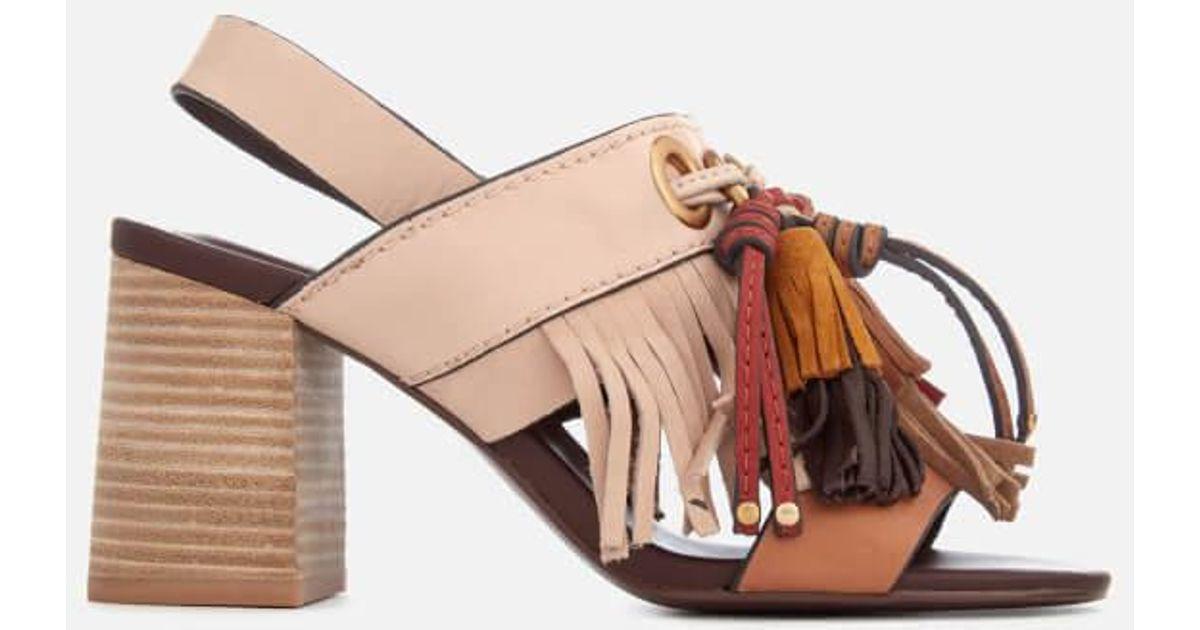 Buy Cheap Store Chloé Women's Leather Tassel Heeled Sandals Sale Amazing Price WSv4w5zqLA