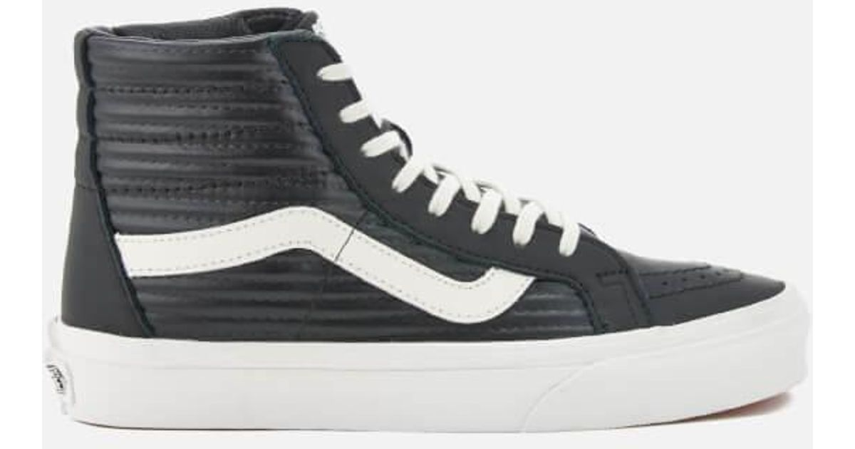 b25115c33b2f Lyst - Vans Women's Sk8hi Reissue Moto Leather Hitop Trainers in Black